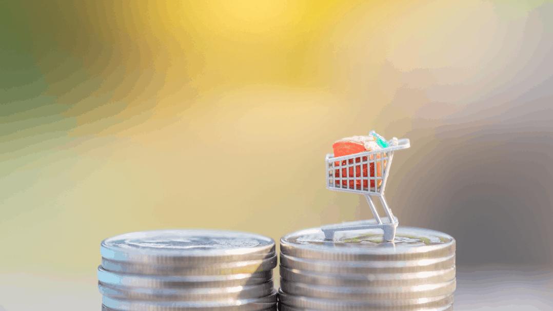 Einkaufswagen Steuer Geld